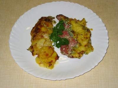 Kassler mit Kartoffel-Gratin